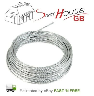 £0.99 • Buy 1mm 1.2mm 1.5mm 2mm 3mm 4mm 5mm 6mm 8mm GALVANISED STEEL WIRE ROPE METAL CABLE