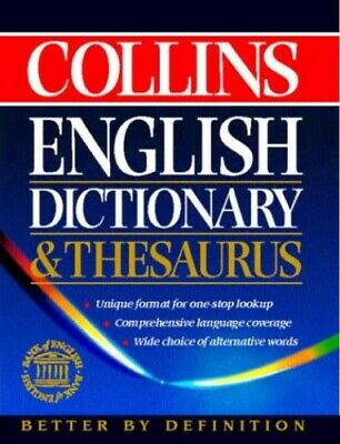 £8.49 • Buy Collins English Dictionary And Thesaurus By Not Known Hardback Book The Cheap
