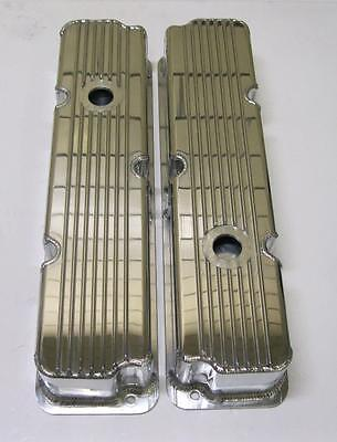 $1127.99 • Buy Ford FE Fabricated Tall Finned Aluminum Valve Covers 1/4 Billet Rail 360 390 428