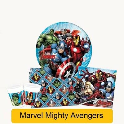 Marvel MIGHTY AVENGERS Birthday Party Range - Tableware & Decorations Supplies • 3.29£
