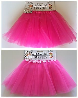 AU13 • Buy Tulle Tutu Skirt 80s Colour Childrens Costume Hot Pink Fushia Neon Dark Fushia