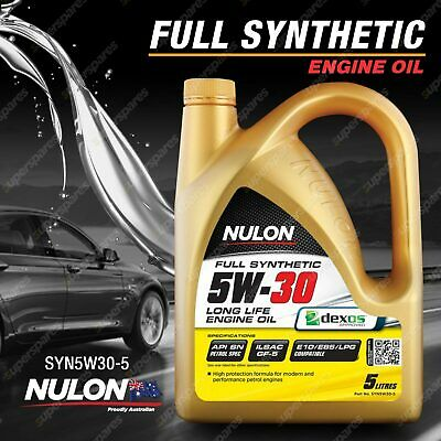 AU46.95 • Buy Nulon Full Synthetic 5W-30 Long Life Engine Oil 5L SYN5W30-5 5 Litres