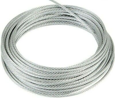 £2.18 • Buy 1.2mm 1.5mm 2mm 3mm 4mm 5mm 6mm 8mm Galvanised Steel Wire Rope Cable Rigging