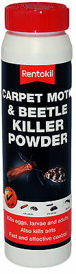 Rentokil Carpet Moth & Beetle Powder Killer - Also Kills Eggs, Larvae 1 X 150g • 9.45£