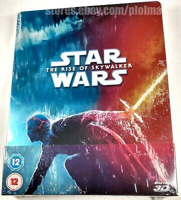 AU76.02 • Buy STAR WARS: THE RISE OF SKYWALKER New 3D (and 2D) Blu-ray STEELBOOK Episode 9 IX