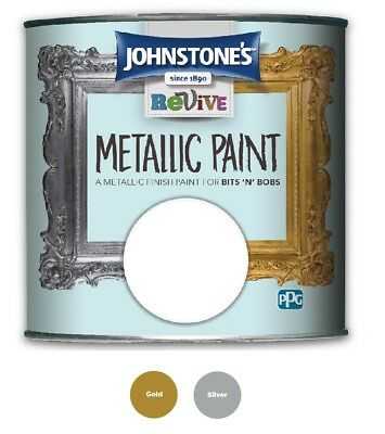 £13.82 • Buy Johnstones Revive Metallic Furniture Paint - Gold And Silver - 375ml