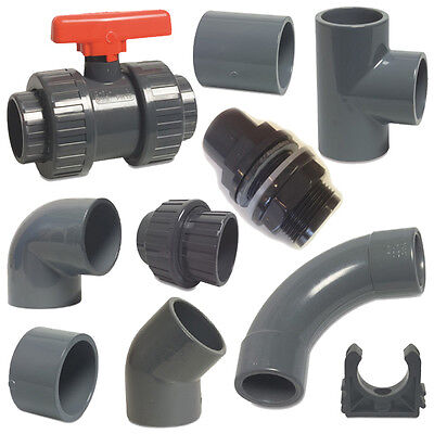 £5.30 • Buy PVC Metric Solvent Weld Pressure Pipe Fittings 20mm To 40mm For Marine Aquariums