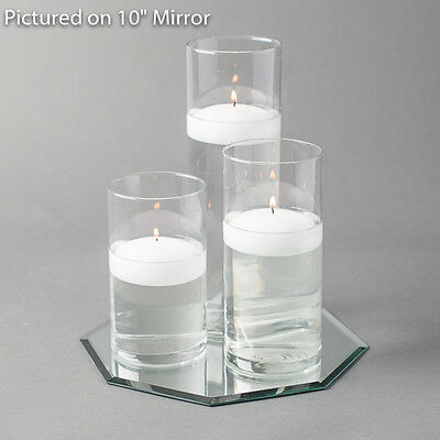 $29.99 • Buy Eastland Octagon Mirror And Cylinder Vase With 3  Floating Candles Set Of 4