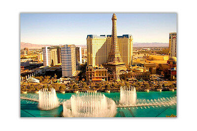 Las Vegas Day Photo Poster Print Wall Art Home Office Decoration • 4.99£