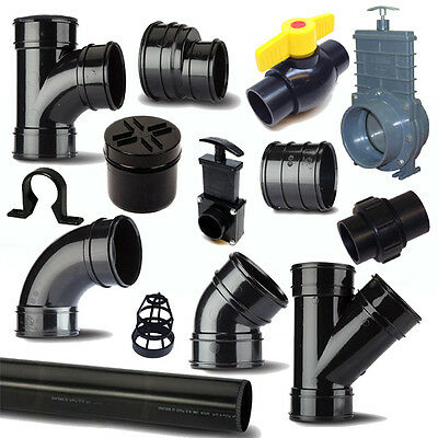 Solvent Weld Waste Pipe & Fittings 1.25 /36mm To 4 /110mm For Ponds • 6.11£