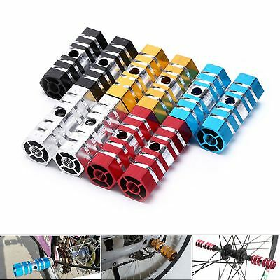 BMX Stunt Scooter Pegs Alloy Hexagonal Bike Bicycle Axle Foot 3/8 2pcs • 3.29£