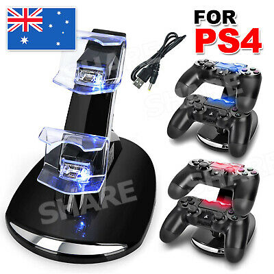 AU15.95 • Buy Dual Charger Dock Charging Stand Cable USB For Sony PS4 Playstation Controller