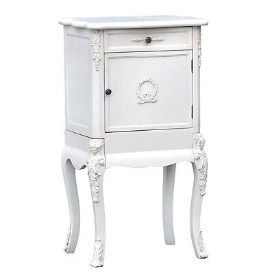 £179 • Buy Shabby Chic Rococo Style White Bedroom Furniture 1 Drawer Bedside Table Cabinet