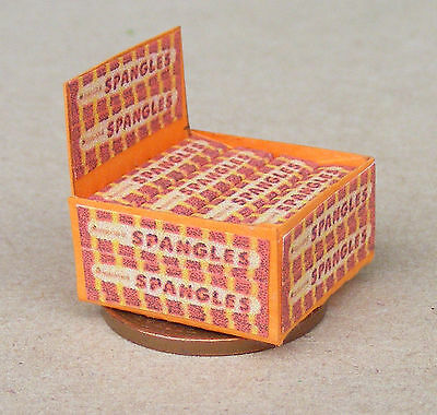 £3.99 • Buy 1:12 Scale Display Box Of Fruit Spangles Packets Tumdee Dolls House Sweets