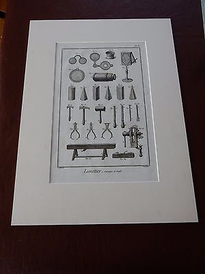 OPTICIAN OPTICAL  Amazing Mounted 1700s Engravings Equipment J GIFT POTENTIAL • 125£