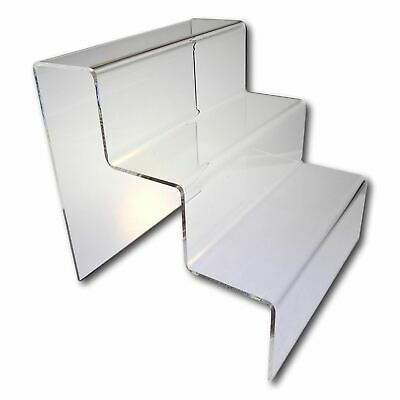£8.90 • Buy 1 X 3 Step Tier Large Clear Acrylic Perspex Retail Counter Display Riser Stand