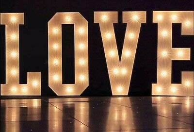 Illuminated LOVE Letters. Wedding Letters. Light Up. 4ft. HIRE • 99£