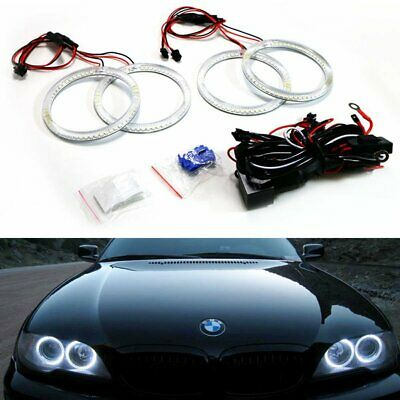 $49.99 • Buy Xenon Headlight 240-SMD LED Angel Eyes Halo Rings For BMW LCI E46 3 Series Coupe
