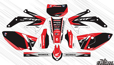 $66 • Buy 5431 Honda Crf 450 X 2005-2016 Decals Stickers Graphics Kit