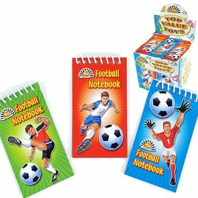 £3.69 • Buy 12 X Football Spiral Notebooks ~ Ideal Party Loot Bag Fillers Toys
