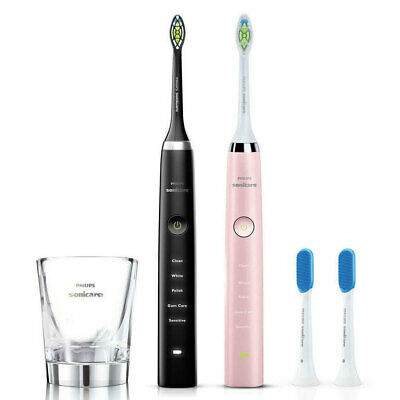 AU498 • Buy 2PK Philips Sonicare Diamond Clean Rechargeable Electric Toothbrush Black/Pink