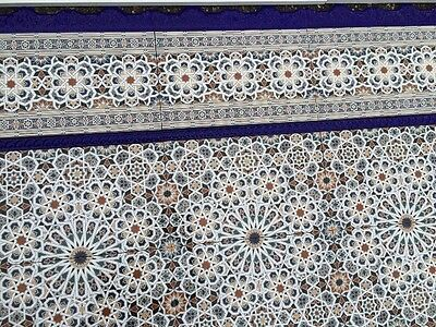 Moroccan Tiles Turkish FEATURE WALL Tile  Kitchen Bathroom Hall Zellige Style Or • 4.95£