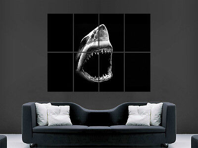£17.99 • Buy Great White Shark Poster Predator Jaws Art Wall Picture Giant