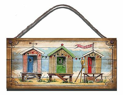 Shabby Chic Wooden Plaque Sign Beach Chalet Huts Place  Gift Present • 4.95£