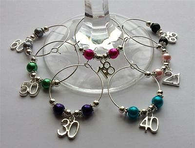 18th, 21st, 30th, 40th, 50th, 60th, 65th Special Birthday Wine Glass Charm Gift • 3.99£