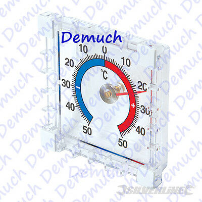 New INDOOR OUTDOOR STICK ON THERMOMETER Window Wall Garden Greenhouse Home Room✔ • 2.85£