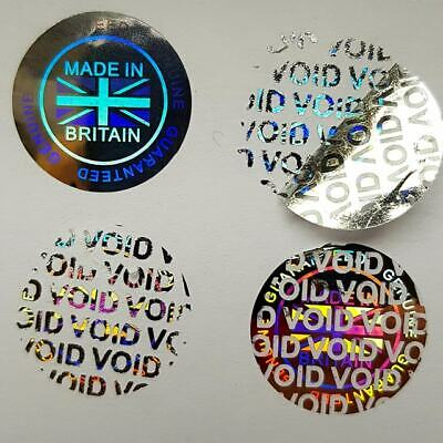 £1.99 • Buy Hologram Stickers Labels Warranty Void If Removed 20mm Or 35mm   Made In Britain