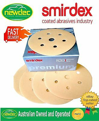 AU58 • Buy Box 100pcs VEL CRO SANDING DISCS 500 GRIT SMIRDEX 150MM (6 ) 7 HOLE SANDPAPER