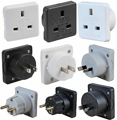 AU14.07 • Buy Travel Plugs Pack Of 2 UK To EU Europe USA Australia Mains Plug Convert Adapter
