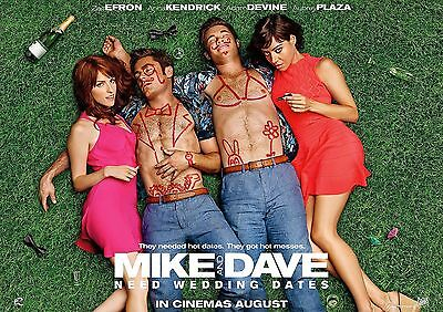 Mike And Dave Poster Zac Efron Adam Devine 2016 Movie FREE P+P, CHOOSE YOUR SIZE • 12.90£