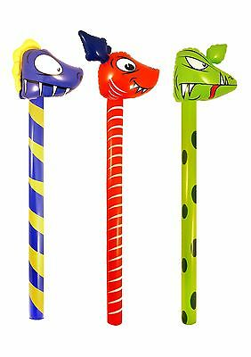 £3.29 • Buy Inflatables Dinosaurs Sticks 118 Cm Party Games Kids Child Blow Up Toy