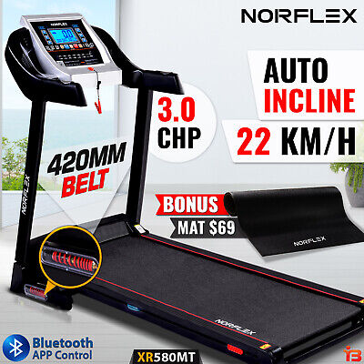 AU549 • Buy NEW NORFLEX Electric Treadmill Auto Incline Home Gym Exercise Mat Fitness Run