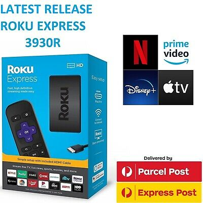 AU89 • Buy Roku Express 3930R HD 1080p Streamer W/ Netflix Prime Video Disney+ Apple TV