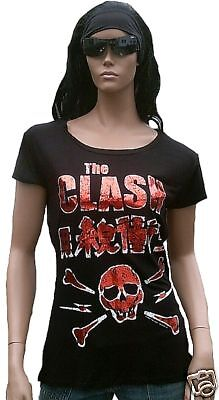 £33.52 • Buy Amplified Official The Clash Skull Foil Print Rock Star Vip Rare T-SHIRT G.S