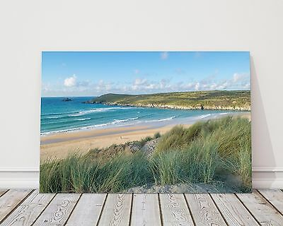 £29.95 • Buy Crantock Beach From Cornwall Canvas Print Framed Picture Wall Art Waves Newquay