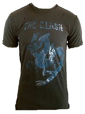 £33.59 • Buy Hot Amplified Official The Clash Dragon Rock Star Vintage Vip Holes T-SHIRT S