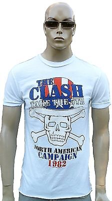 £32.10 • Buy Amplified Clash North America Campaign 1982 Skull Rock Star Vintage T-Shirt XL