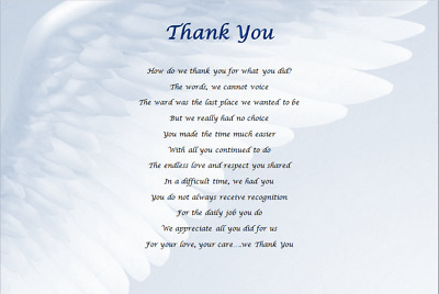 £3.59 • Buy DOCTOR/NURSE GIFT - Hospital THANK YOU - Laminated Gift *WRITTEN BY SELLER*