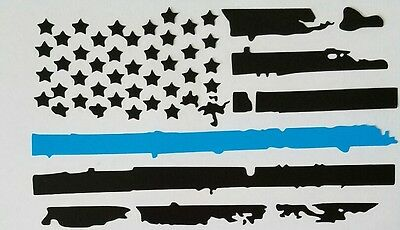 $10.85 • Buy Police Lives Matter. Thin Blue Line Flag. Hold The Line. Vinyl Window/car Decal