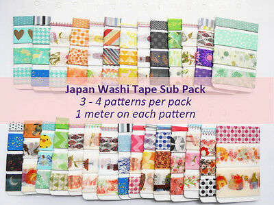 AU1.99 • Buy Japan Washi Tape Subpack 1 Pack