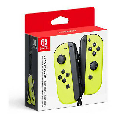 $77.50 • Buy Genuine Nintendo Switch - Joy-Con (R) (L) Wireless Controller Neon - Yellow
