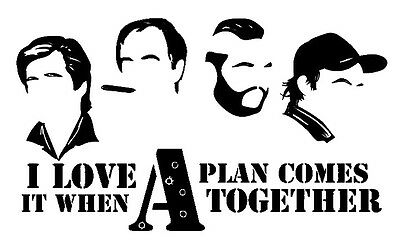 $6 • Buy Vinyl Decal Truck Car Sticker Laptop - The A-Team Love It When Plan Comes
