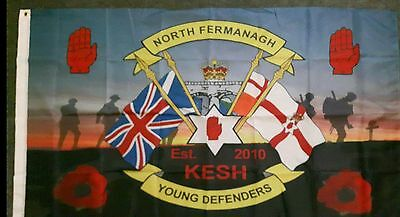 North Fermanagh Young Defenders Flute Band Flag Ulster Memorabilia • 10£