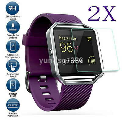 $ CDN1.24 • Buy 2* Explosion-Proof Real Tempered Glass Screen Protector For Fitbit Blaze Watch