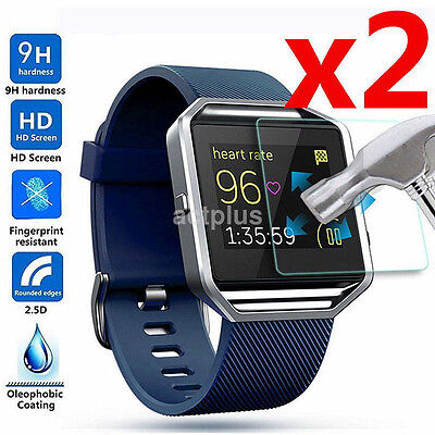 $ CDN2.17 • Buy 2PCS Ultra Thin Premium Tempered Glass Screen Protector For Fitbit Blaze Watch