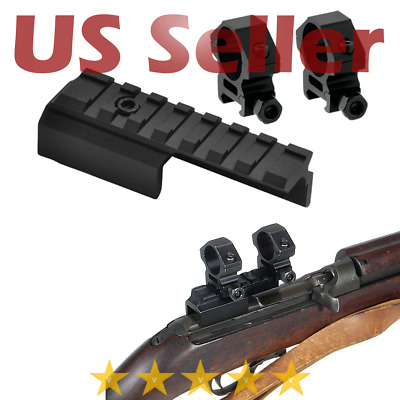 $18.85 • Buy Leapers M1 Carbine Scope Mount 1  Rings Aluminum Dovetail To Picatinny Aluminum